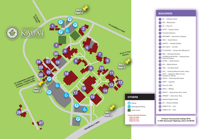 Rally Points Map - Kaua'i Community College